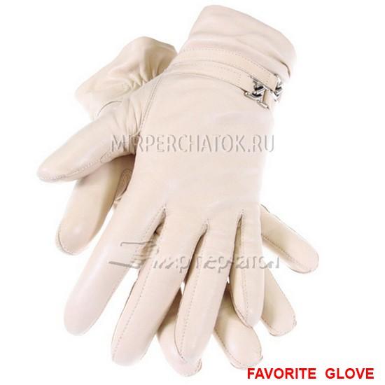 Белые женские перчатки