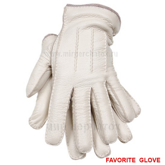 Белые мужские перчатки