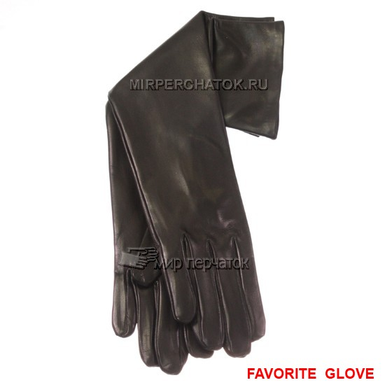 кожаные черные длинные перчатки
