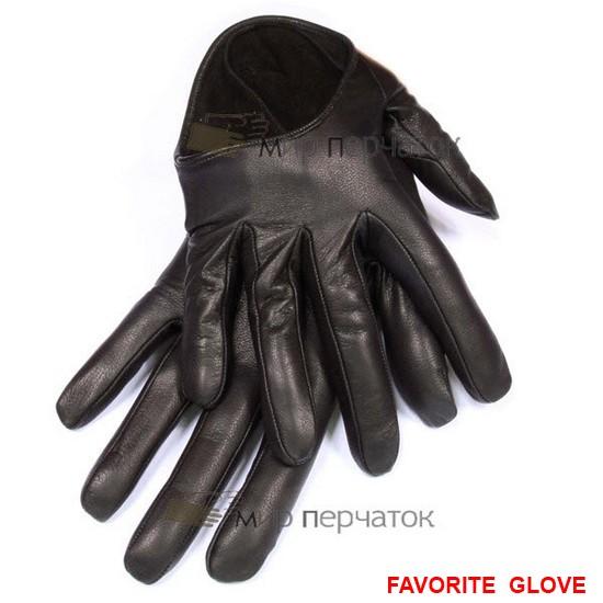кожаные женские перчатки с глубоким вырезом