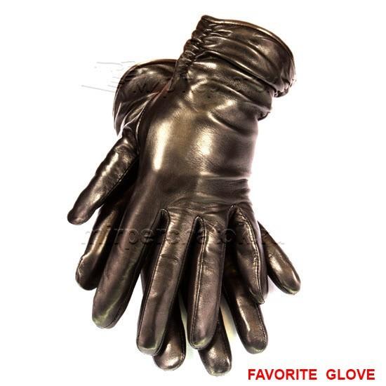 элегантные глянцевые кожаные перчатки