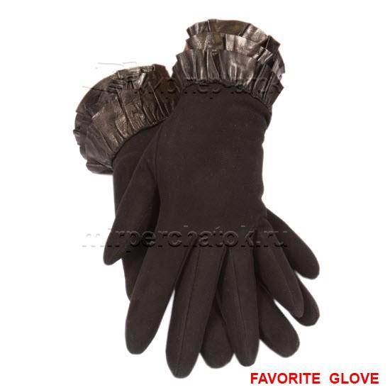 изысканные замшевые перчатки с декором запястья
