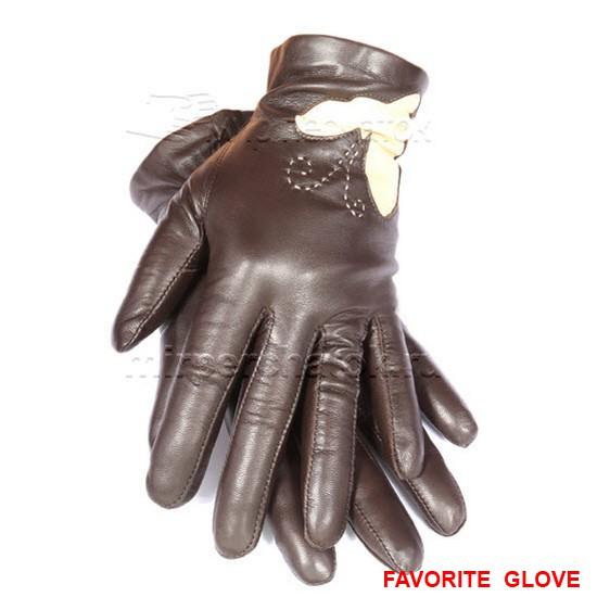 романтические кожаные перчатки с орнаментом