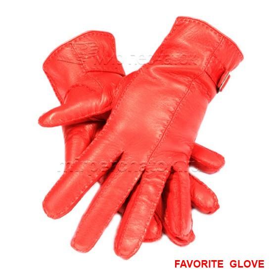Ярко-коралловые перчатки классического кроя