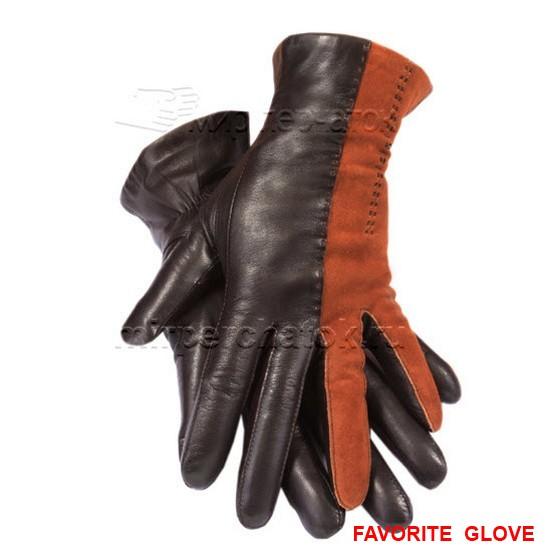 Комбинированные кожаные перчатки – писк сезона