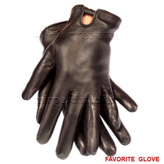 Практичные кожаные перчатки классического кроя